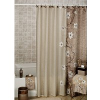 Brown Shower Curtains O - Curtains Brown And Blue Shower ...