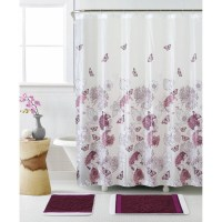 lavender shower curtain set