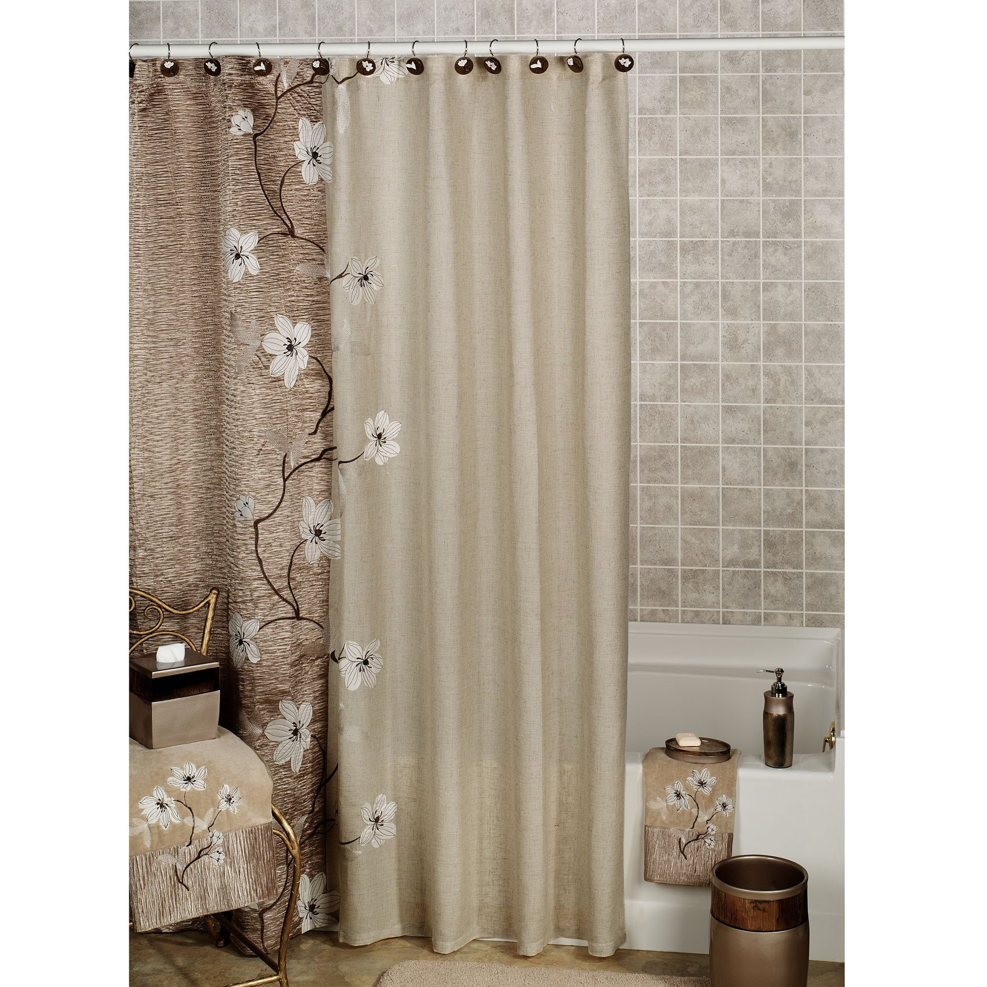 Matching Shower Curtain And Window Valance Shower