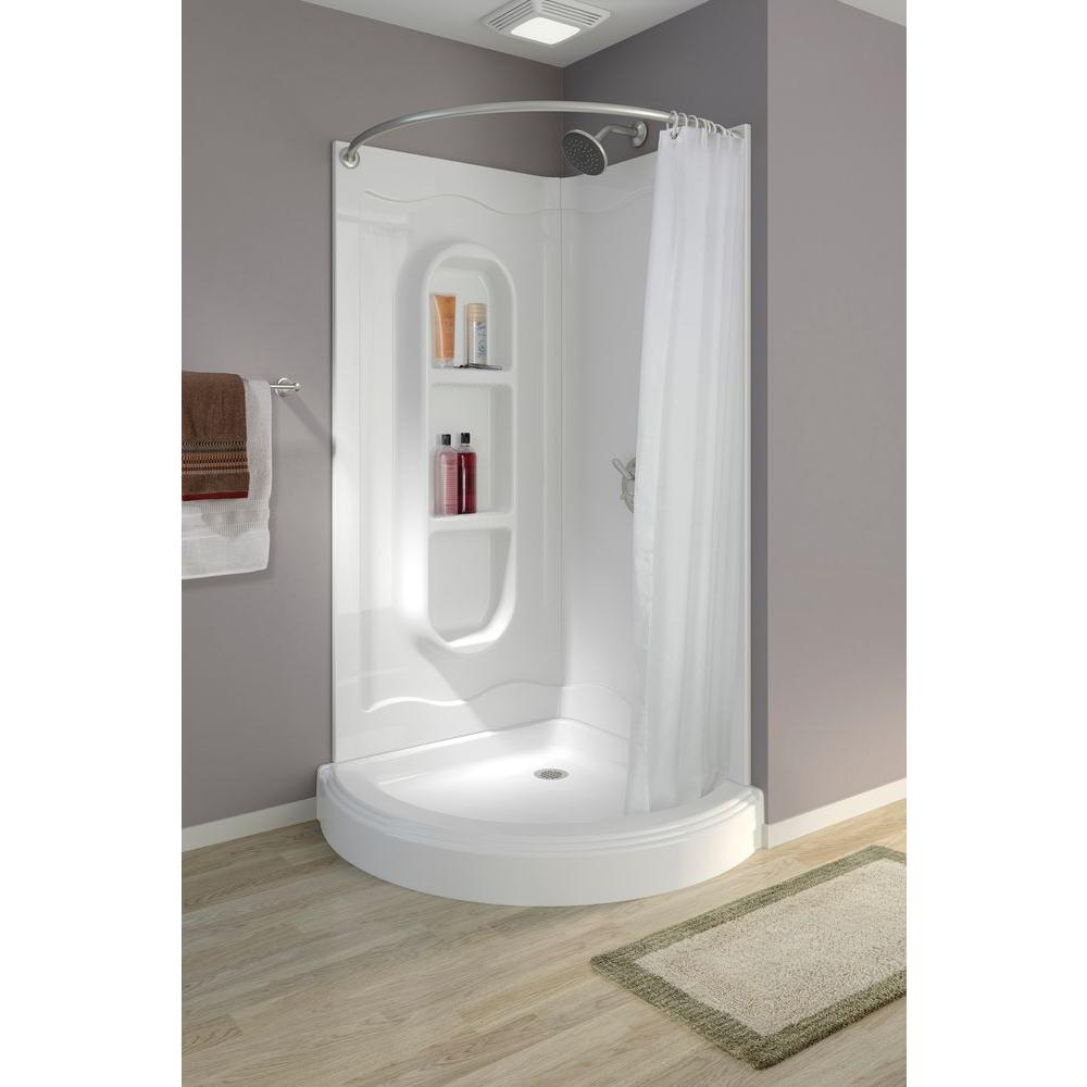 Corner Shower Stall With Curtain  Shower Curtains Ideas