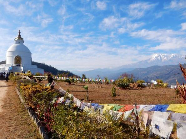 Vredestupa in Pokhara, Nepal