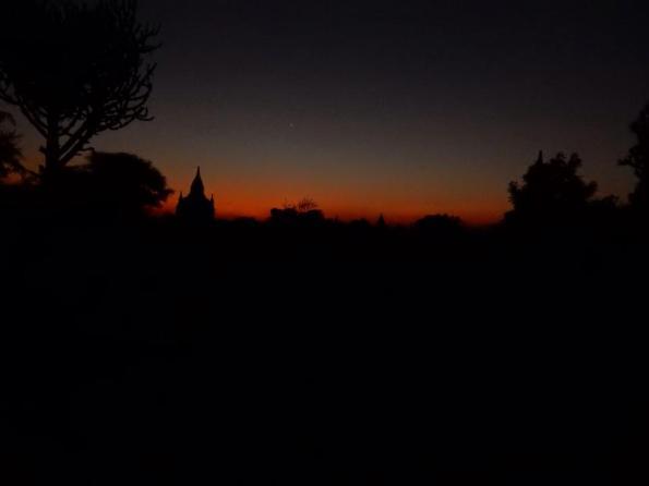 Zonsondergang in Bagan, Myanmar