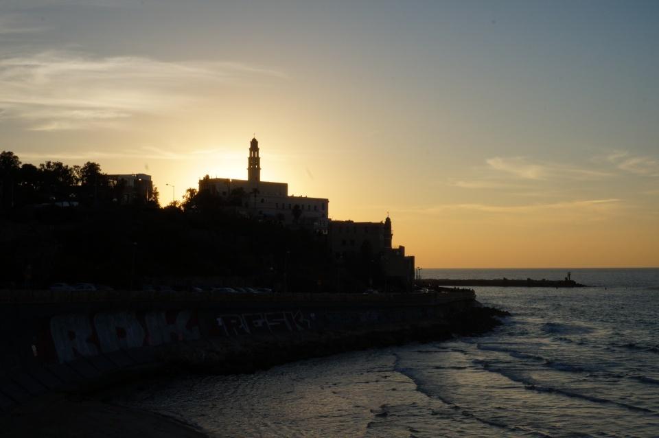 Tel aviv old yaffo sunset