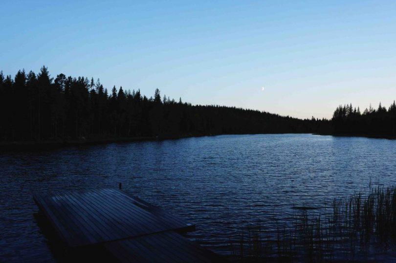Uitzicht over het meer