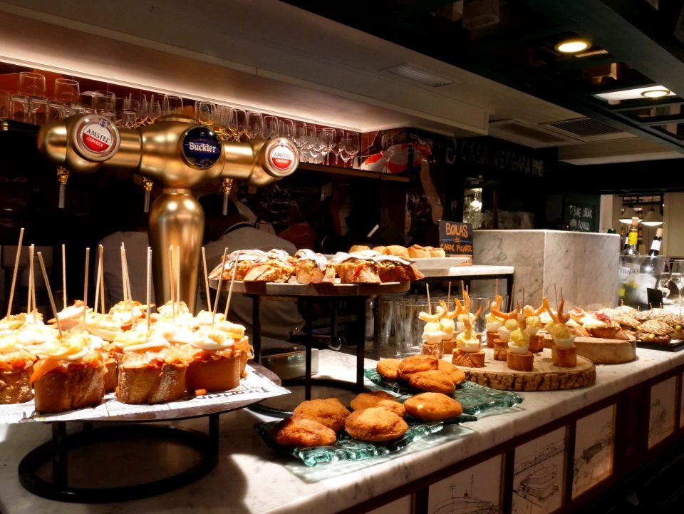 Pincho's in een bar in San Sebastian, Spanje