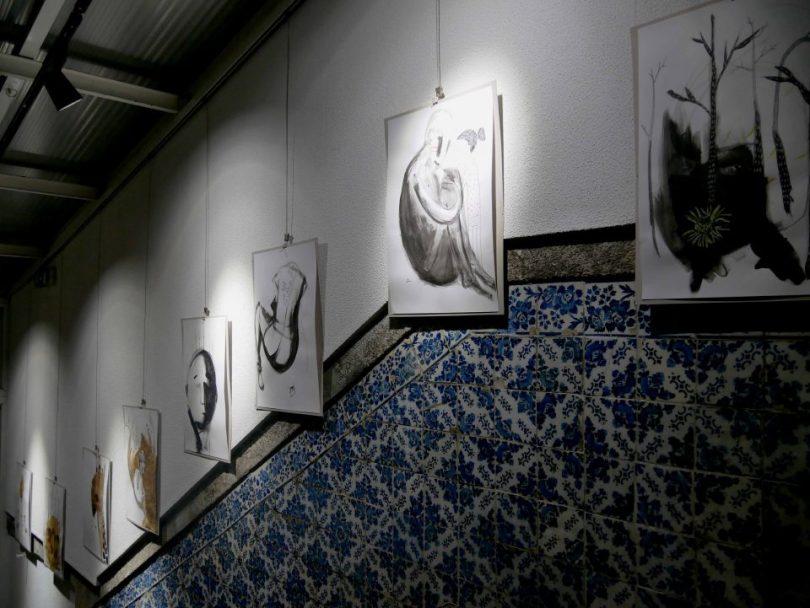 Gallery Hostel's kunst aan de muur van het hostel