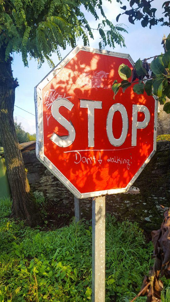 Een stopbord