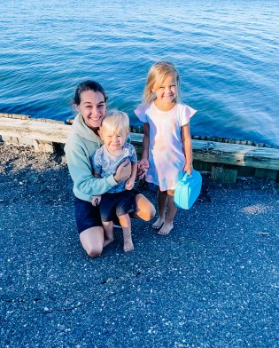 June Recap: evening bike ride with the kids to the bay in East Moriches, New York