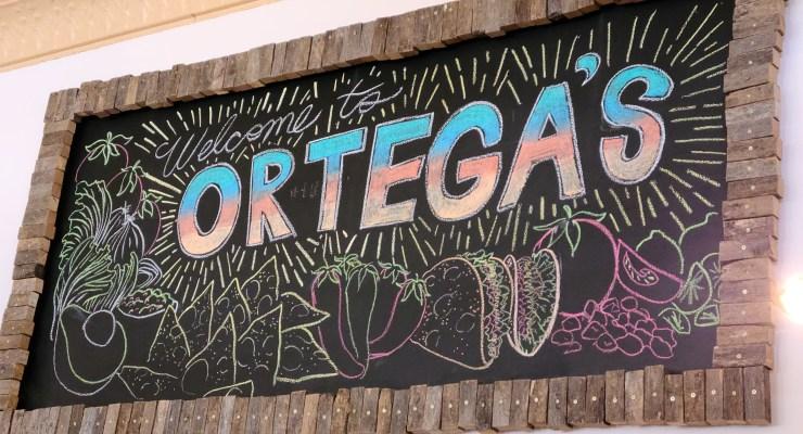Sign for Ortega's Taco Shop