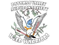 logo for the potomac valley audubon society weed warrior program.
