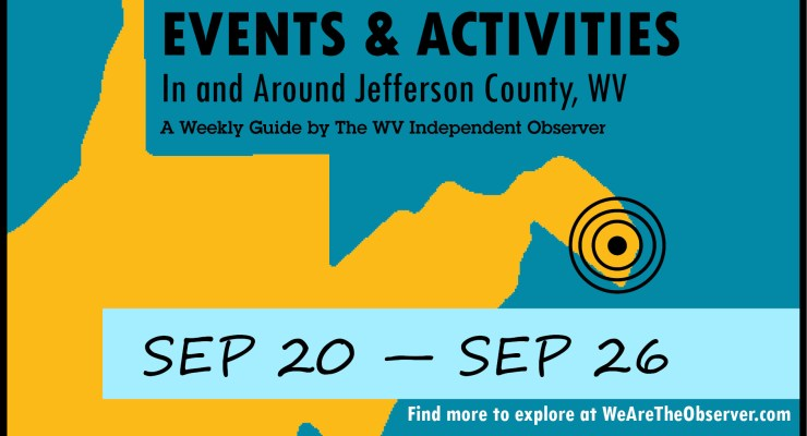 Events and activities from september 20 to september 26.
