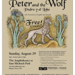 Peter and the Wolf concert poster