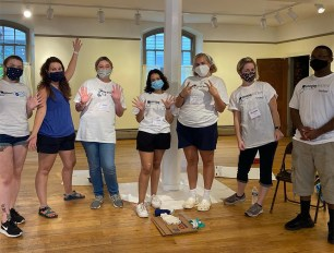 """The University's Emerging Leaders in Service program organizes a """"Day of Service"""" the week before classes begin for students to volunteer with various non-profits in the Shepherdstown area."""