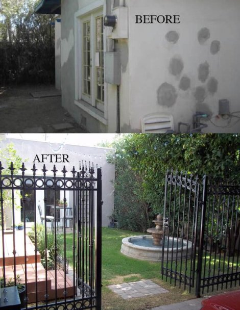 Courtyard Before and After