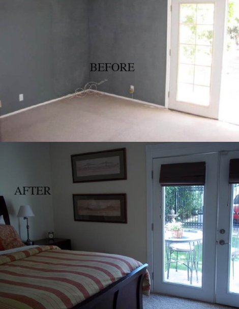 Guest House Bedroom Before and After