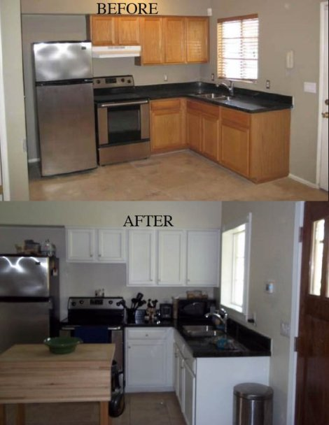 Guest House Kitchen Before and After