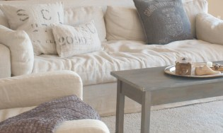 Linen couch