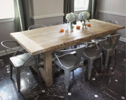 Metal industrial dining chairs