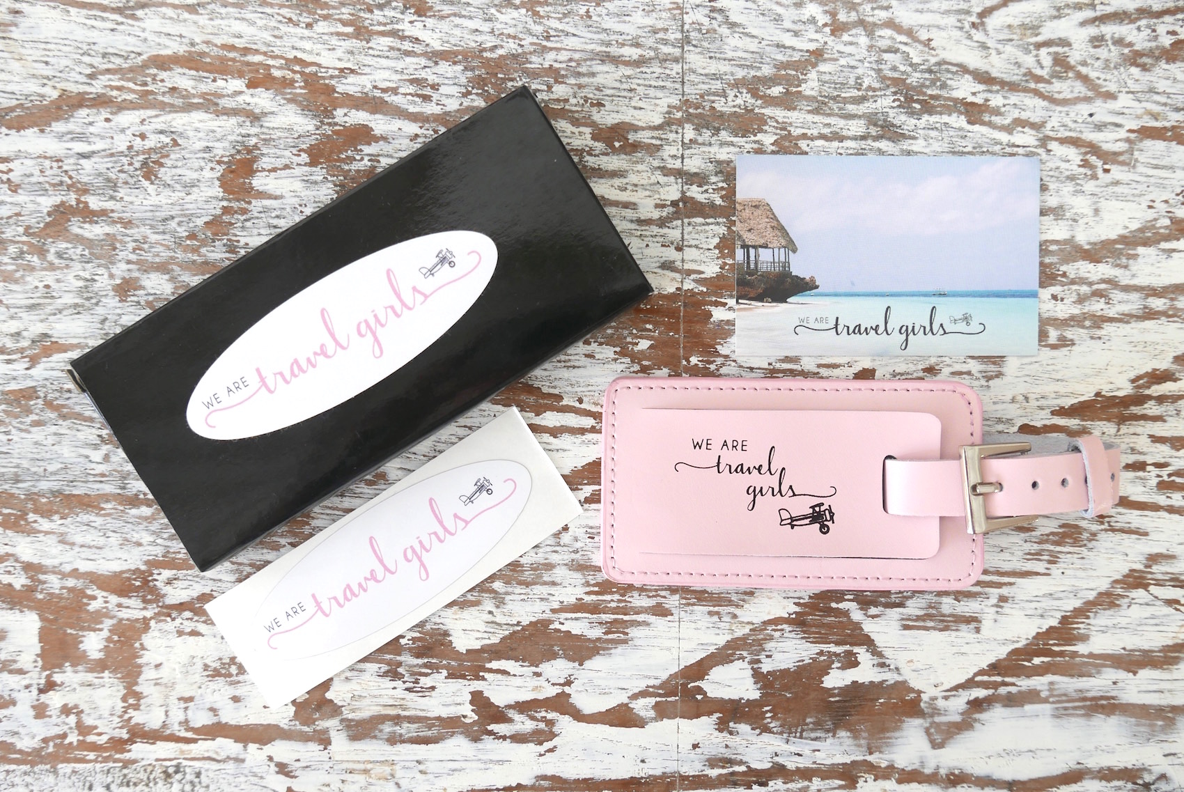 we are travel girls™ luggage tag