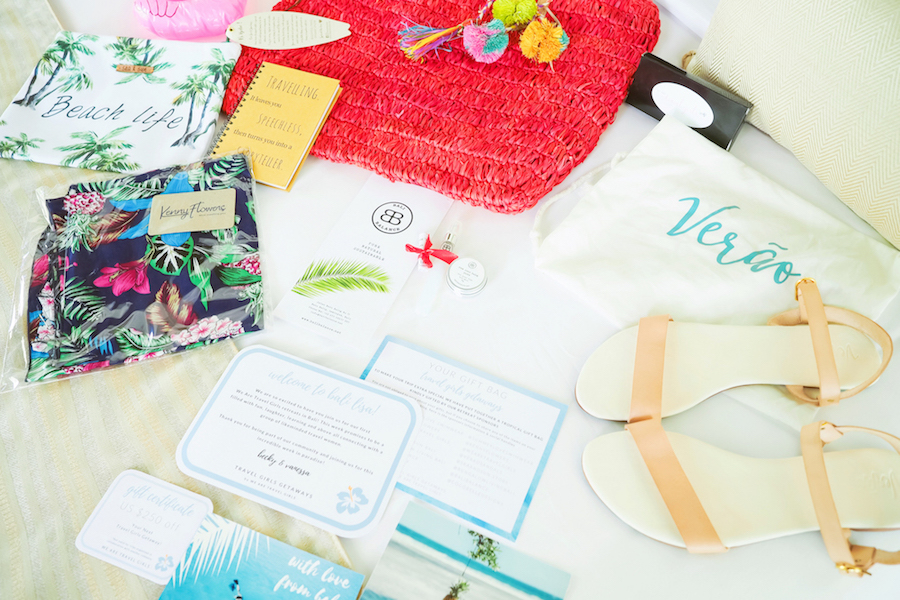 WE ARE TRAVEL GIRLS BALI RETREAT GIFT BAGS
