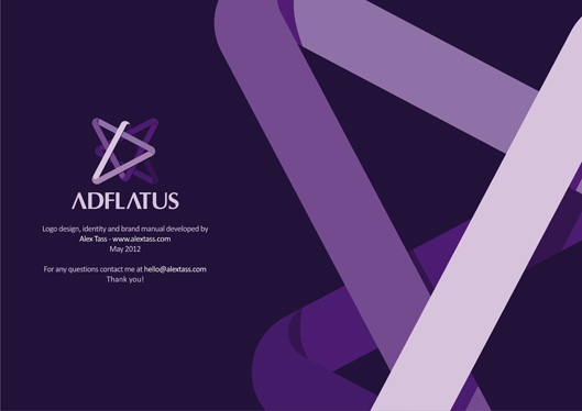 Adflatus case study logo design stationery design