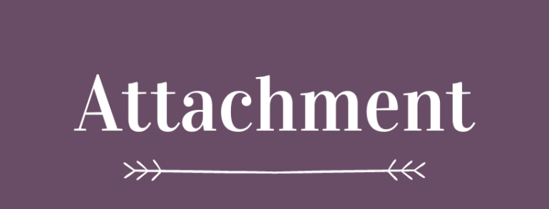 Graphic with the word 'attachment'