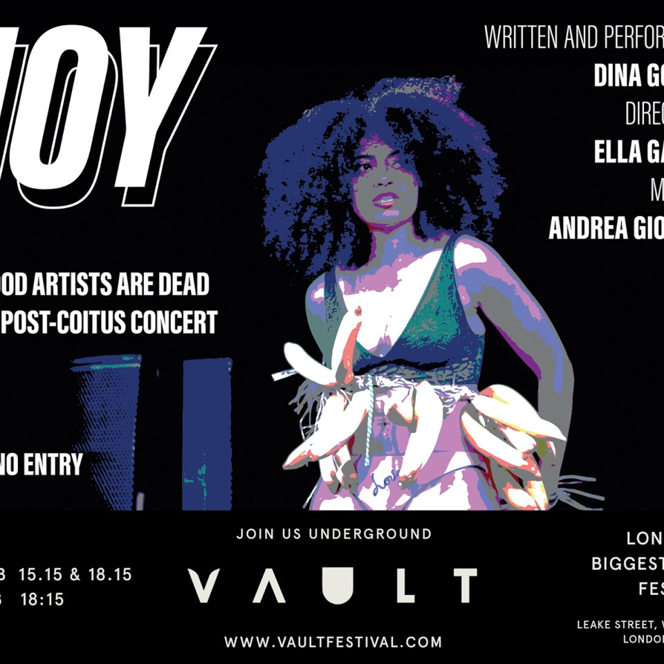 All Good Artists are Dead: Joy at the Vault Festival