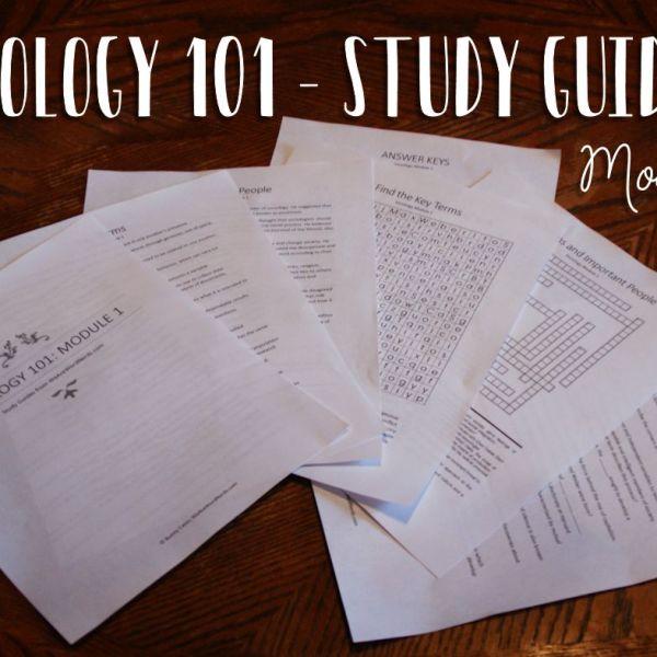 Sociology 101 - Module 1 - Study Guide
