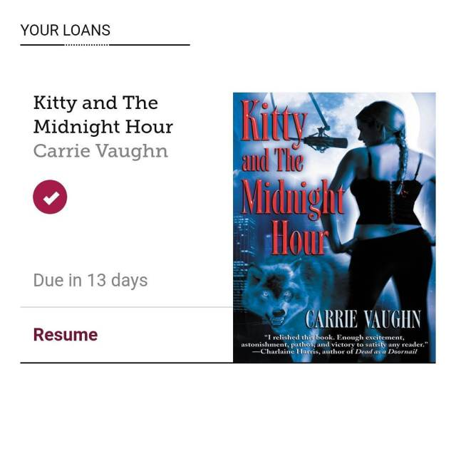 amreading libraryloan libby Kitty and the Midnight Hour by Carriehellip