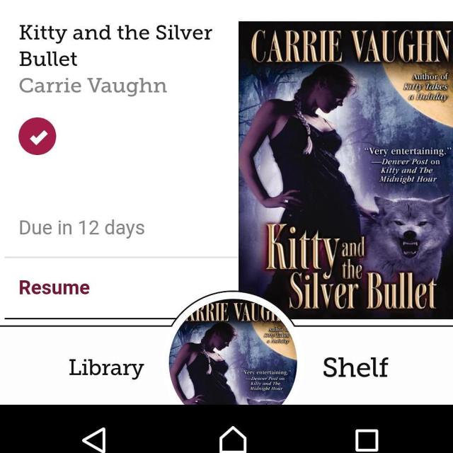 amreading Kitty and the Silver Bullet by Carrie Vaughn Kittyhellip