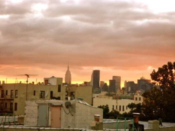 view from our rooftop Astoria / Queens