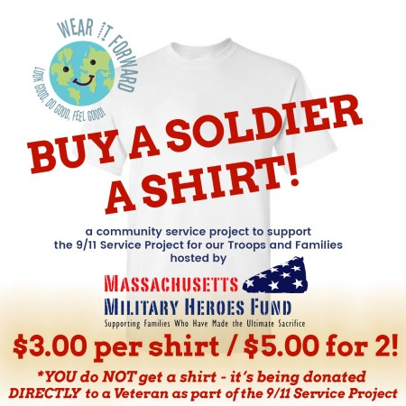 buy a soldier a shirt