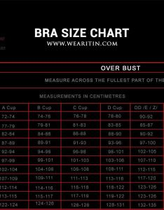 Bra size calculator chart by wearitin also find your you can   go wrong with this rh