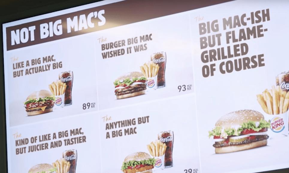 'As ne Big Mac mär Smöyiger': Burger King hernöömt bröydkes üm McDonald's te trollen