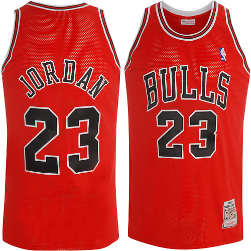 585189c94e76 Mitchell   Ness Chicago Bulls Michael Jordan Authentic Road Jersey ...