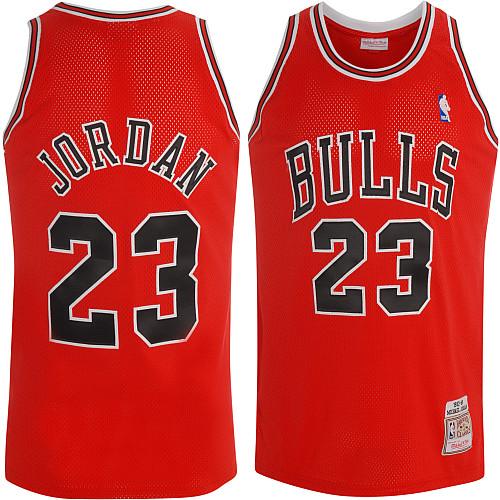8be39431229 Mitchell & Ness Chicago Bulls Michael Jordan Authentic Road Jersey ...