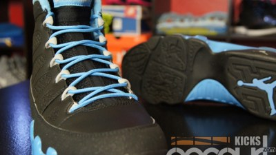 buy popular 47cc6 b4e84 Air Jordan IX (9) Retro Black  Matt Silver – University Blue  Slim Jenkins   – Detailed Images