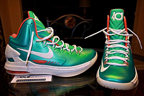 huge discount 7ac8f 12fe7 Nike-KD-V-(5)-iD- Miami-Dolphins