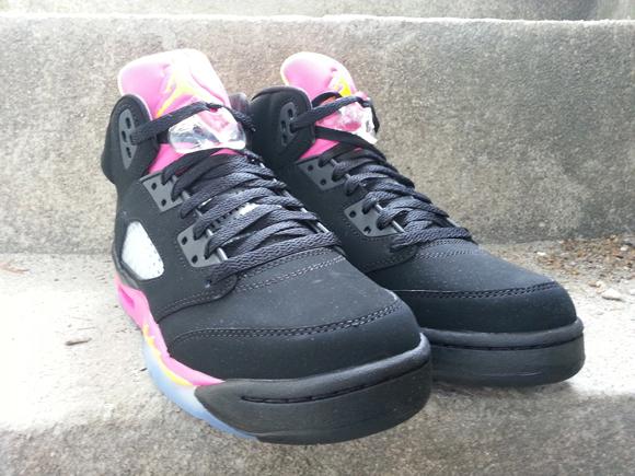 quality design 1aaa5 9ec9d Air-Jordan-5-Retro-GS-Black-Bright-Citrus-Fusion-Pink-Detailed-Images-3