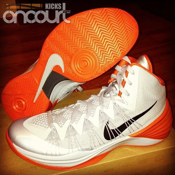 new arrival 1b566 5f703 Nike Lunar Hyperdunk 2013 TB White Orange - WearTesters