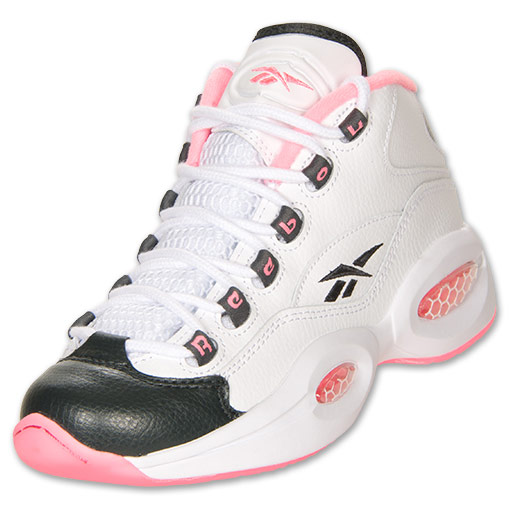 huge selection of 61d78 a56b7 Reebok Question Mid GS White Black - Pink - Available Now -