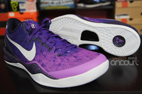 on sale b8d18 123fd ... canada nike kobe 8 system purple gradient detailed look db4e3 0aff2