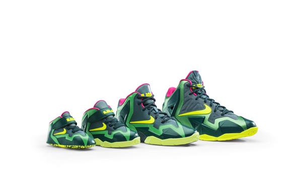 quality design a3f1e b583a Nike LeBron XI GS  T-Rex  1