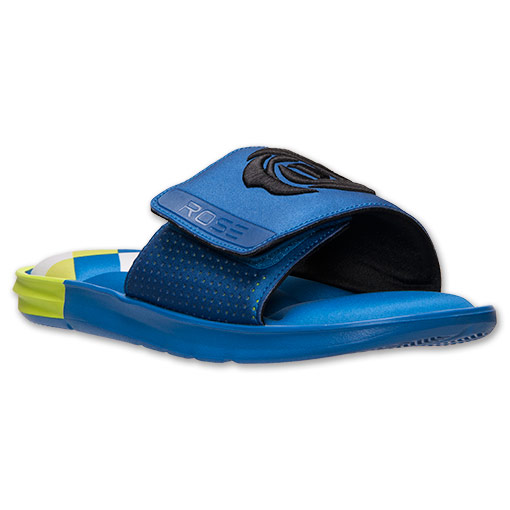 adidas D Rose Slide Sandals - Available Now BLUE 1