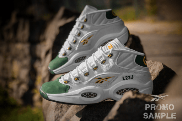 ff3eab7e1e6 Reebok Question Mid  For Players Use Only  White  Harvest Green ...
