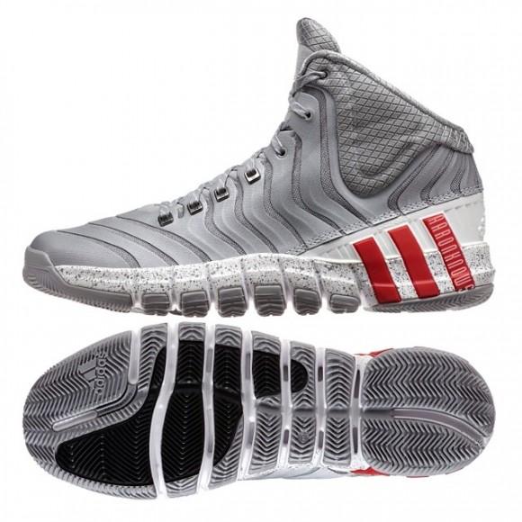separation shoes 2ca2d faebd adidas CrazyQuick 2 Grey White - Red