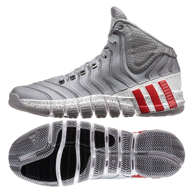 new styles 71993 6ff53 adidas CrazyQuick 2 Grey  White - Red