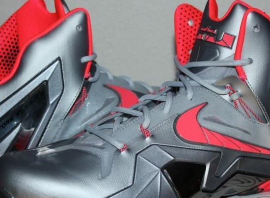 on sale 218e9 7328b Nike LeBron XI Elite – Wolf Grey – Crimson – Cool Grey – Black ...