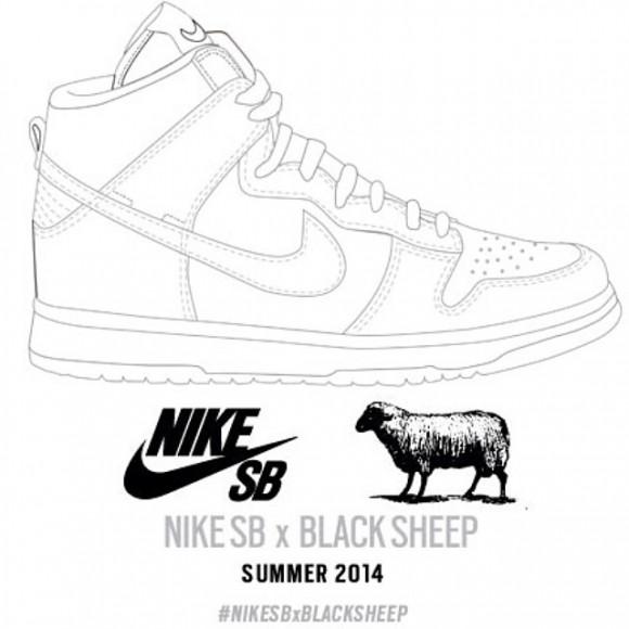 abdda5130f2c Black Sheep Skate Shop Teases Nike Dunk SB Collab 2 - WearTesters