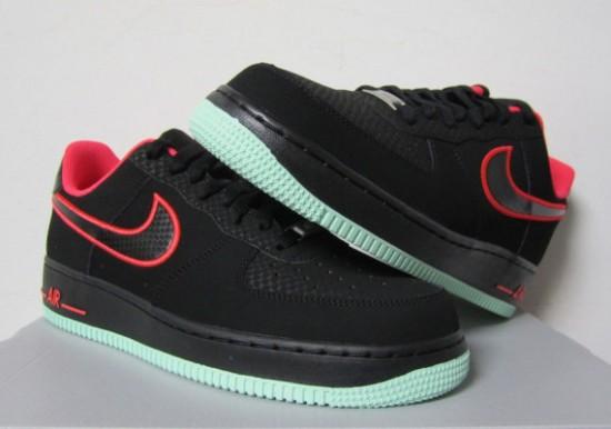 new concept ea8ce f1bb6 Nike Air Force 1 Low – Black – Laser Crimson – Arctic Green ...